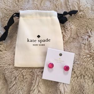 Kate Spade Pink Gumdrop Stud Earrings in Bag NWT